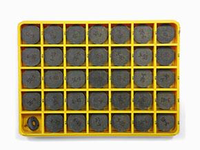 Ferrari  2v   Set valve shims 68 pcs. (3,25 – 4,90mm) Ferrari 33mm
